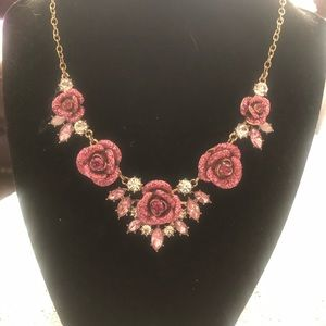 Authentic Betsey Johnson rose necklace